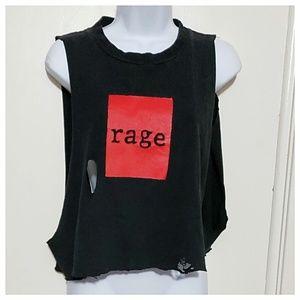 Vintage Rage Against the Machine Crop Top
